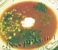 """Суп """"Здоровье"""" с томатным соком"""