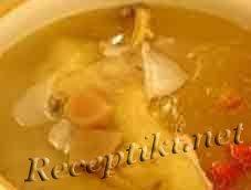 Суп из утки с перловой крупой и грибами