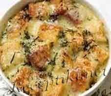 Грибной суп с хлебом по-монастырски