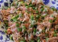 Салат из вареной репы с морковью и картофелем