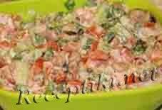 Салат из помидор с авокадо