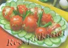 Салат из помидоров с яблоками