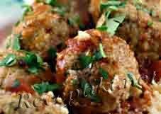 Салат с рыбными фрикадельками