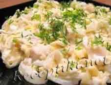Салат из кальмаров «Посейдон»
