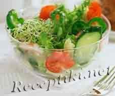Салат из помидоров с ветчиной