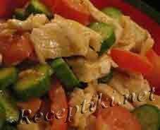 Салат из рыбы и шампиньонов
