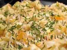 Салат из печенки с солеными огурцами