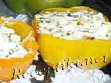 Фаршированный сыром перец