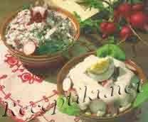 Салат из редиски с творогом
