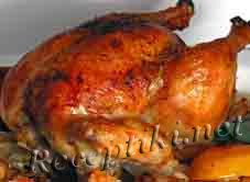 Курица или цыпленок жаренные целиком