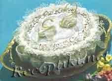 Бисквитный сливочный торт «Лебединая верность»