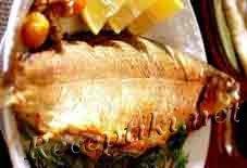Жареная рыба фаршированная кильками
