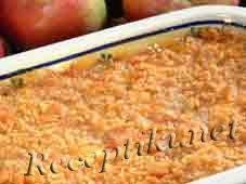 Запеканка из яблок с белым хлебом