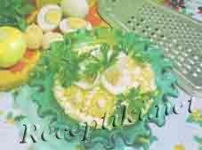 Салат из лосося «Мимоза»