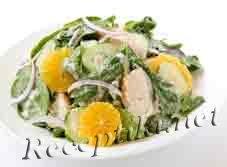 Салат из осетрины