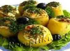 Картофель фаршированный грибами
