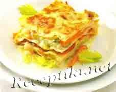 Лазанья с овощами и соусом бешамель