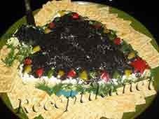 Салат с кальмарами «Новогодняя ёлка»