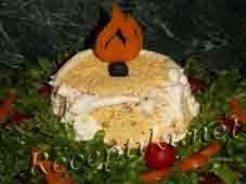 Салат с тунцом и грибами «Свеча»