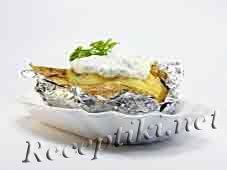 Картофель с грибным фаршем запеченный в фольге