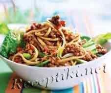 Спагетти в орехово-чесночном соусе