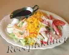 Рыбный салат «Ромашковое поле»