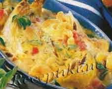 Макароны с салатным цикорием