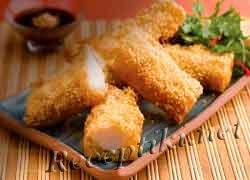 Обеденные рыбные пончики из трески во фритюре