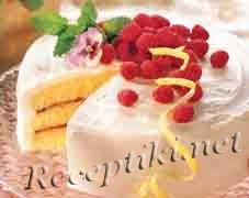 """Торт с клубнично малиновой начинкой  """"Клубничная полянка"""""""