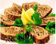 Рулет мясной с грецкими орехами