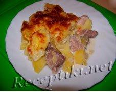 Картофель с окорочками