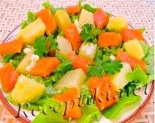 "Салат из семги ""Романский"""