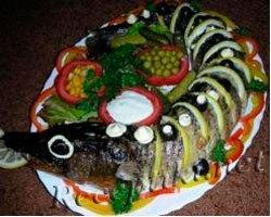 """Фаршированная рыба """"Королева морей"""""""