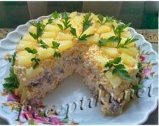 Торт-салат из блинчиков