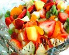 Маседуан из экзотических фруктов