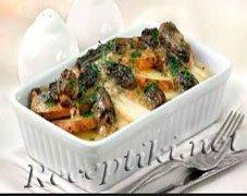Запеканка из картофеля со спаржей и ветчиной