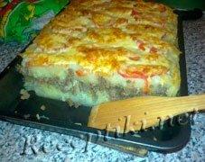 Картофельная запеканка из молодого картофеля с сыром  моцарелла и базиликом