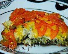 Запеканка из творога с кабачками и сыром