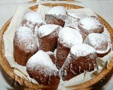 Кекс с сахарной пудрой