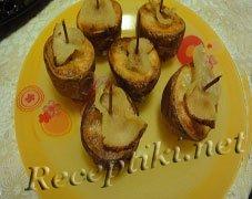 Картофель печеный с салом