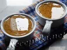 Овсяный кисель с молоком и медом