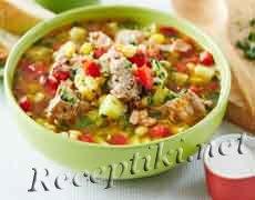 Суп из тунца с имбирём