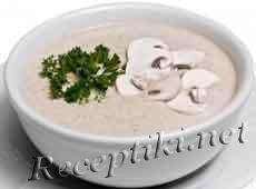 Крем-суп со сливками и шампиньонами