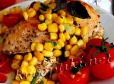 Курица запеченная с кукурузной сальсой