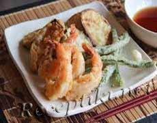 Темпура с рыбой и овощами