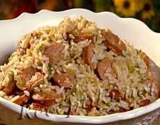 Рис с сосисками или сардельками