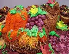 Торт «Рог изобилия» из песочного теста