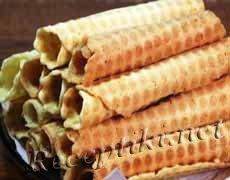 Вафельные трубочки со сливочной начинкой
