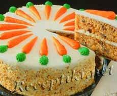 Морковный торт в глазури